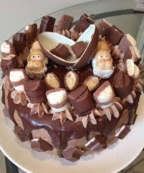 kinderriegel torte mit zwei nilpferde aus dem riegel