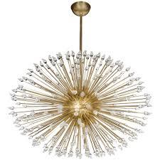 Mid Century Modern Sputnik Chandelier with Handblown Murano Glass