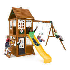 Cedar Summit McKinley Wooden Playset-F24950 - The Home Depot Backyard Discovery Dayton All Cedar Playset65014com The Home Depot Woodridge Ii Playset6815com Big Cedarbrook Wood Gym Set Toysrus Swing Traditional Kids Playset 5 Playground And Shenandoah Playset65413com Grand Towers Allcedar Playsets Amazoncom Kings Peak Monterey Playset6012com Wooden Skyfort