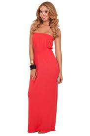 maxi cover up drop waist boho beach strapless empire long casual