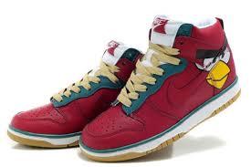 Retro Nike Dunks SB High Top Men Women Angry Birds Red Online 94298854