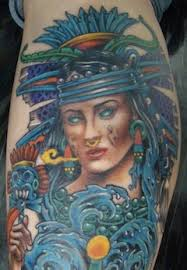 Aztec Tattoos And Meanings Water Goddess