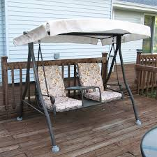 Menards 2 seat Chair Style Sienna Swing canopy and cushion replacement