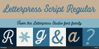 Fontspring Similar Fonts To Letterpress Studio