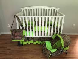 Mossy Oak Crib Bedding by 7pc Camo Realtree Fabric U0026 Lime Green Crib Bedding Nursery Set