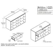 Ameriwood Dresser Assembly Instructions by Ameriwood Home Willow Lake 6 Drawer Dresser By Cosco Free