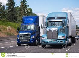 100 Simi Trucks Two Big Rigs Semi In Blue Tone And Different Models