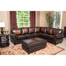 Boscovs Leather Sofas by Elements Carlton 3 Piece Top Grain Leather Sectional Collection