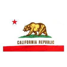 California Flag With Pole Hem