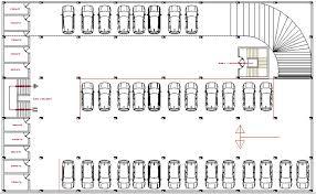 Basement Car Parking Lot Floor Plan Details Of Multi