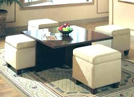 Coffee Table With Storage Ottomans Coffee Table Storage Ottoman