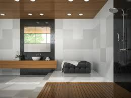 innenraum eines stilvollen badezimmers mit einer holzdecke