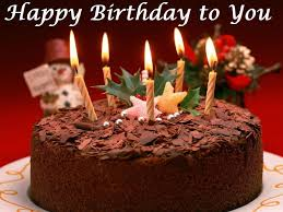 Birthday Cake Ideas Great Happy Chocolate Nice Sample With Candle Fire Brown Wishes Simple