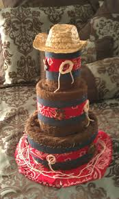 Western Wedding Decorations On A Budget Towel Cake Mariage