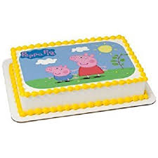 peppa pig cake decorations whimsical practicality peppa pig edible icing image