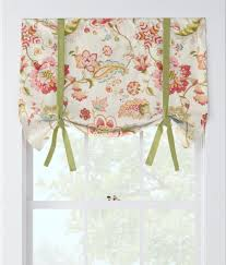Jacobean Style Floral Curtains by Jacobean Floral Lined Tie Up Valance Country Curtains