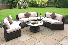 Half Circle Outdoor Furniture by 6 Pc Luxury Hotel Outdoor Half Round Sofa And Side Table Poly