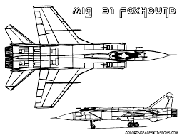 Printable Coloring Book Military Airplane Fighter Jets Free Jet Plane Pages GIF Image 1001 X 774 Pixels