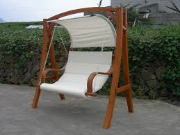 Unique Swing Wooden Garden Seat With Canopy 2 Throughout E