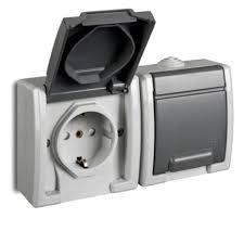 steckdose schalter schuko ap feuchtraum ip55 16a 250v aufputz aufputzsteckdose steckdose 2fach