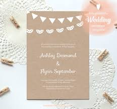 FREE Printable Wedding Invitation Template Just Download Fill In And