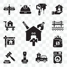 Set Of 13 Transparent Editable Icons Such As Reparation, Cleaned ...