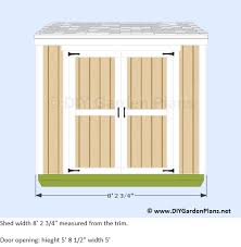 How To Build A Lean To Shed Plans Free by Plans For A 4 U0027x8 U0027 Lean To Shed