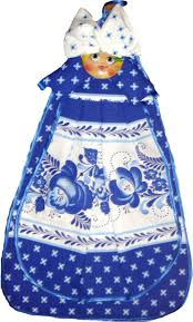 100 Matryoshka Kitchen Linen Towel Onion Gzhel A2017