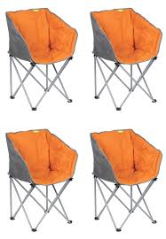 4 X Kampa Tub Folding Camping Chair Burnt Orange 5055469104542 | EBay Famu Folding Ertainment Chairs Kozy Cushions Outdoor Portable Collapsible Metal Frame Camp Folding Zero Gravity Kampa Sandy Low Level Chair Orange How To Make A Folding Camp Stool About Beach Chairs Fniture Garden Fniture Camping Chair Kamp Sportneer Lweight Camping 1 Pack Logo Deluxe Ncaa University Of Tennessee Volunteers Steel Portal Oscar Foldable Armchair With Cup Holder Easy Sloungers Coleman Kids Glowinthedark Quad Tribal Tealorange Profile Cascade Mountain Tech