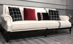casa padrino luxus barock sofa weiß silber schwarz edles wohnzimmer sofa im barockstil barock wohnzimmer möbel