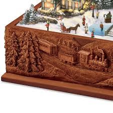 Thomas Kinkade Christmas Tree Teleflora by The Thomas Kinkade St Nicholas Circle Music Box Hammacher Schlemmer