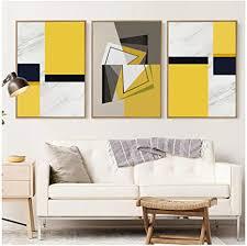 jin yi global abstrakt gelb weiß grau block leinwand kunst