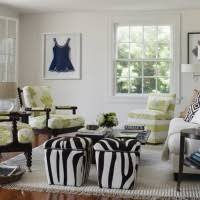 Stunning Small Living Room Design Ideas With Vintage Zebra Pattern Ottoman Idea Also Green Floral