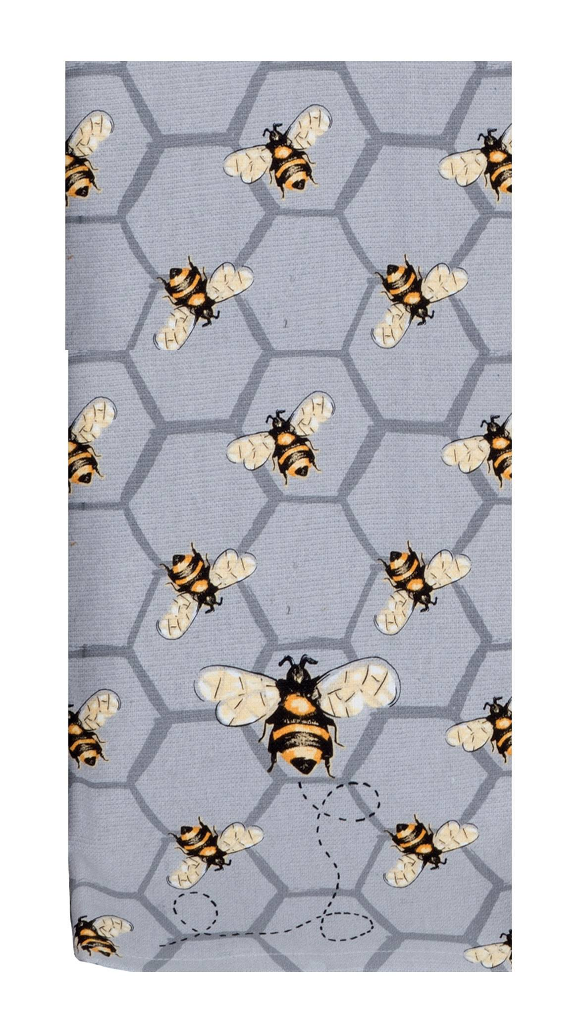 For A Well Dressed Kitchen Towel, Dual Purpose, Bee Inspired