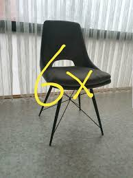 6 stühle samt grau esszimmer stuhl insg 470