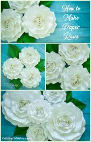 Giant Paper Rose Printable Templates And Step By Tutorial