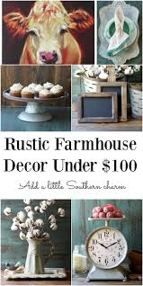 Rustic Farmhouse Decor For Under 100 Lots Of This Stuff Is Much Cheaper Than