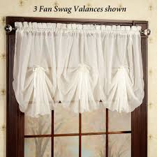 Valances Curtains For Living Room by Emelia Sheer Fan Swag Valances