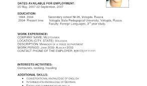 Nanny Sample Resume For Job