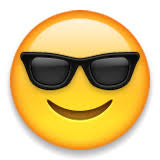 Smiling Face With Sunglasses Emoji Apple iOS Version