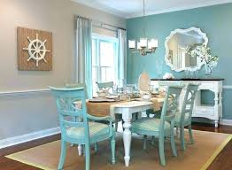 Beach Themed Dining Room Wall Mirrors Blue Accent