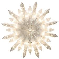 Ge Itwinkle Outdoor Christmas Tree by Ge Holiday Classics Glittered Starburst Tree Topper 71250hd The
