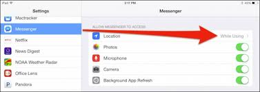 How to Turn f Messenger s Location Tracking if it is