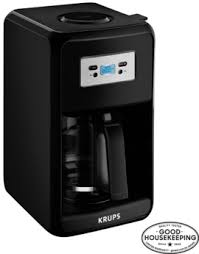KRUPS EC311 12 Cup Savoy Programmable Digital Black Coffee Maker EC311050