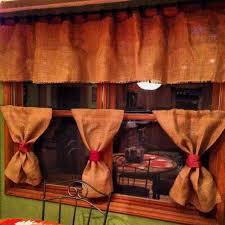My Burlap Kitchen Curtains