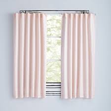 Light Pink Ruffle Blackout Curtains by Fresh Linen Light Pink Curtains The Land Of Nod