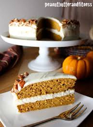 pumpkin protein cake with cheese frosting