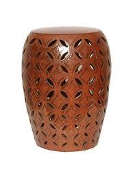 Glaze Lattice Ceramic Garden Stool