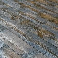Kontiki Interlocking Deck Tiles Engineered Polymer Series by 75 Sq Ft Barnwood Plank Patio On A Pallet Paver Set Brown