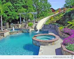 Swimming Pool Designs With Slides 50 Backyard Swimming Pool Ideas ... Bedroom Pleasing Awesome Backyard Pool Slide Gopro Hero Best Designs Pics With Extraordinary Small Pools The Famifriendly Slide Becomes An Adventure As It Wraps Around Backyards Chic Design Ipirations Swimming Waterslides Walmartcom Appealing Water Slides Features Omni Builders Interior With Rock Pinterest Rock And Hot Tub And Vinyl Liner Diving Board 50 Ideas